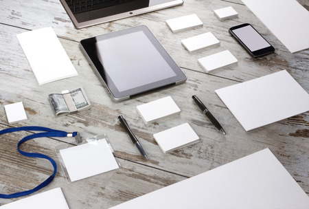 planning: Mockup business template. High resolution. 3D reander