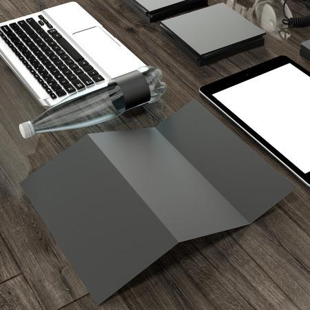 mockup: Mockup business template. High resolution. 3D render