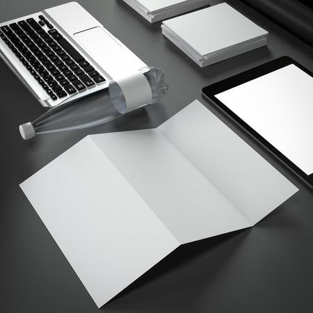 botle: Mockup business template. High resolution. 3D render