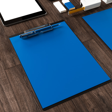 Mockup business template. Documentation for business. High resolution. 3D render photo