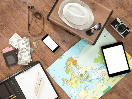 composition notebook: Travelling mockup business template. High resolution 3d render