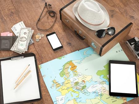 foto carnet: Viajar plantilla negocio maqueta.