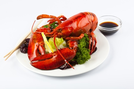 Lobster with sauce photo