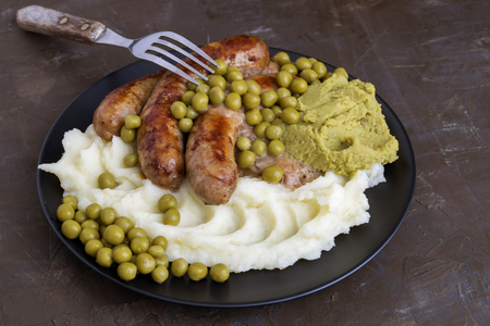 Bangers And Mash. Traditional British Dishes.