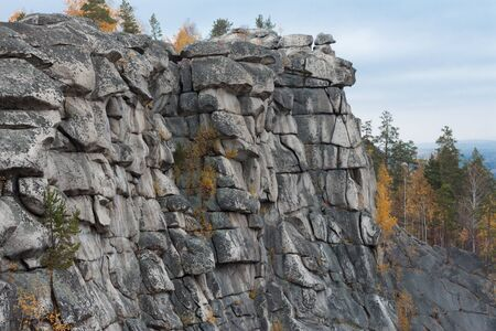 urals: cliff in the Urals. Arakulsky Sheehan Stock Photo