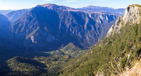 Panorama canyon in Montenegro national park
