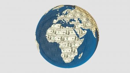 American dolar texture on the earth Zdjęcie Seryjne