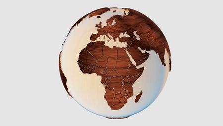 Wood earth Zdjęcie Seryjne