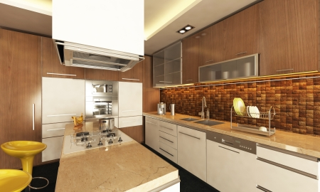 modern kitchen design Stock Photo - 22623615