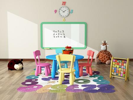 zoete interieur maken voor kinderkamer Stockfoto