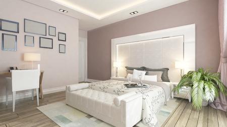 bedsheets: design moderno camera da letto con muro rosa, impianti e strutture per Sedat SEVEN