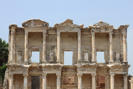 Library Of Celsus at Ephesus in turkey historical place background
