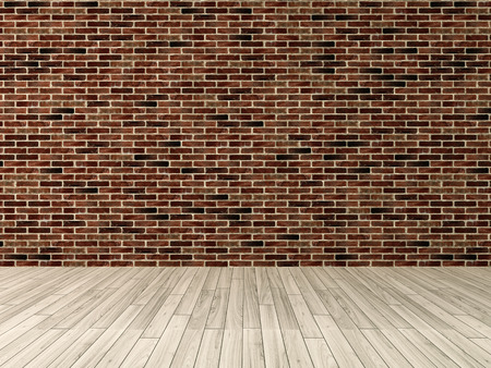 Interior red brick wall decoration, interior wall pattern and background