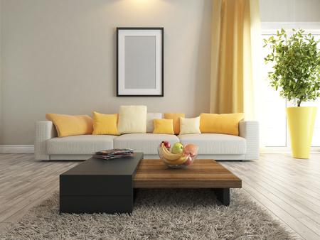 case moderne: interior design moderno con moquette e supporto