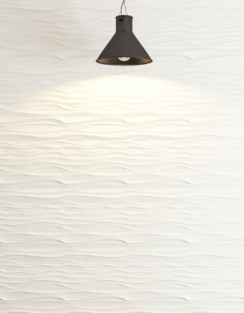 Interior wave wall decoration, interior wall panel pattern and background 免版税图像
