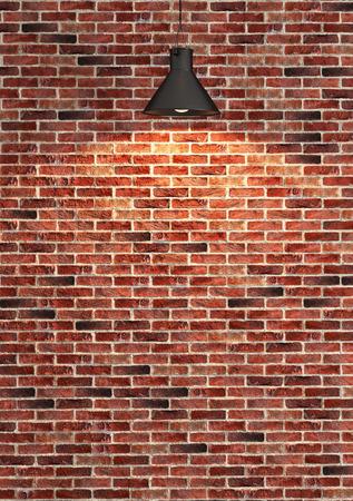 Intérieur mur de briques rouges décoration, modèle de mur intérieur et le fond Banque d'images - 47615953