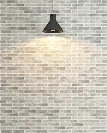 white brick wall under light background rendering
