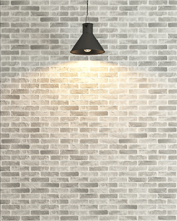 white brick wall under light background rendering