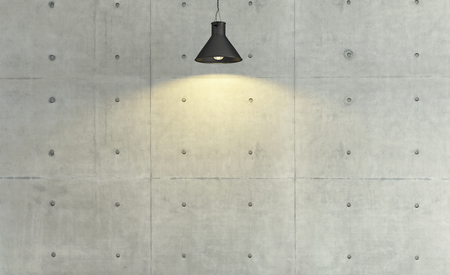 concrete wall loft style under spot light effect, background, template design