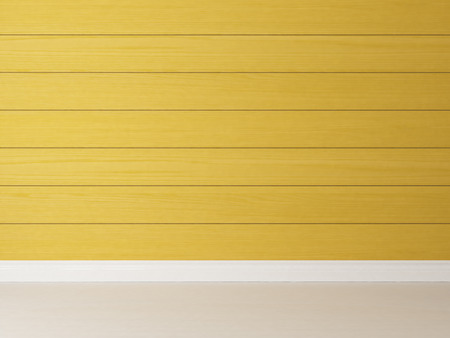 painted horizontal yellow wooden rendering wall background for your design Zdjęcie Seryjne