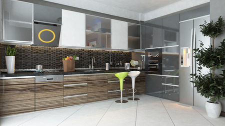 Modern Kitchen Design Commercial By Means Of Shaping Intended