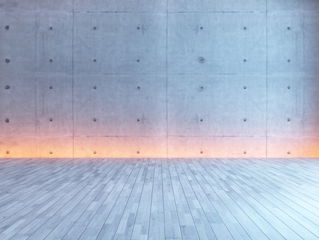 lege interieur met onder lichte muur 3D rendering
