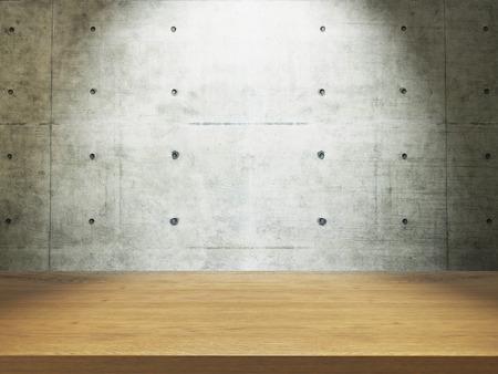 wooden empty desk mock up your product and design Reklamní fotografie - 54348631