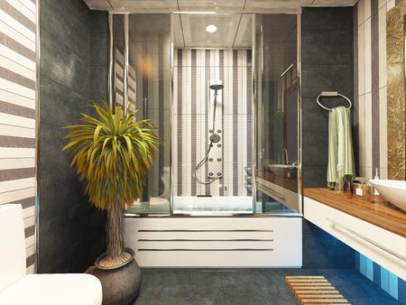 bathroom design 3d rendering by sedat seven Zdjęcie Seryjne - 65787141