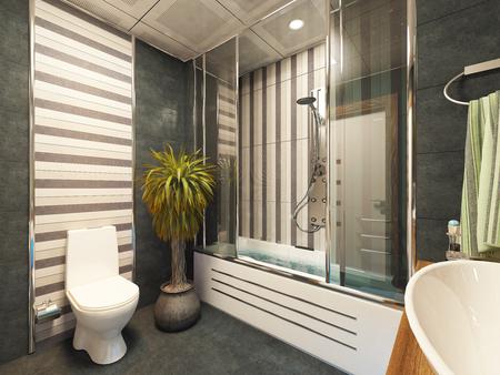 bathroom design 3d rendering by sedat seven Zdjęcie Seryjne