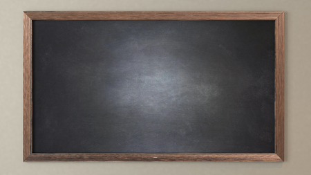 Blank blackboard 3D design and rendering for your project