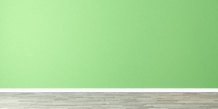 light green wall empty room 3D rendering