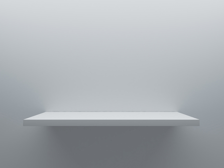 empty shelf stand on the wall 3D rendering 写真素材