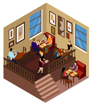 lunch room: cafe Illustration
