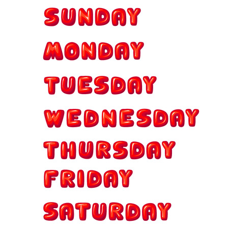 wednesday: Days of the week: Sunday, Monday, Tuesday, Wednesday, Thursday, Friday, Saturday