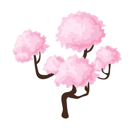 plum island: Isometric sakura Illustration