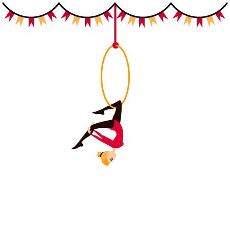 Цирк акробатов девочка