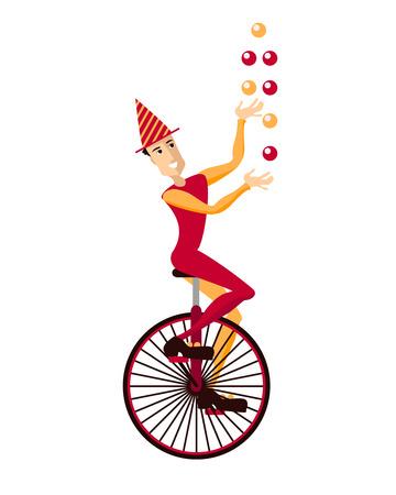 moncycle の手品師  イラスト・ベクター素材