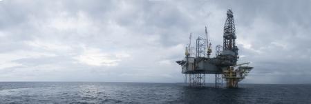 platform op Zuid-Chinese Zee in de ochtend