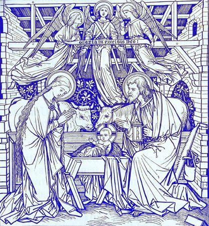 nacimiento de jesus: Navidad de libro antiguo