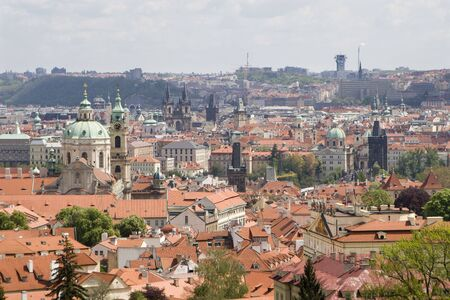 notability: Prague - old town from outlook Stock Photo