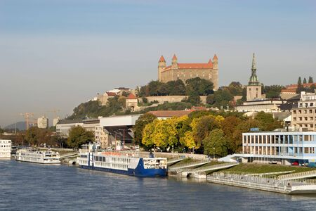 Bratislava - castle and quay in autumn