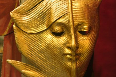 gold mask from venice - leaf photo