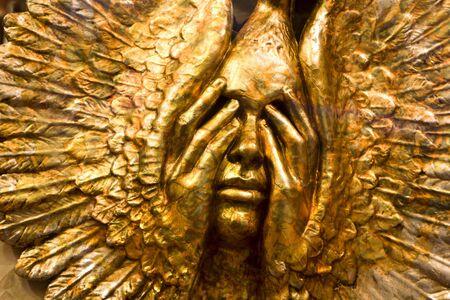 gold mask from venice - sun photo