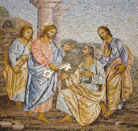 messiah: Rome - mosaic from st. Peters cathedral