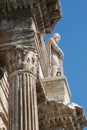 statuary: Rome - Constantine triumph arch - detail Stock Photo
