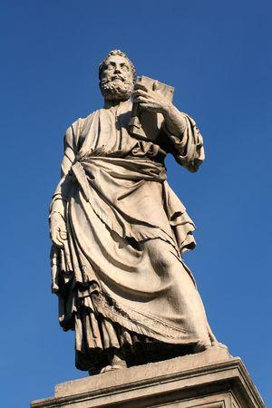 statuary: Rome - sculpture from Angels bridge Stock Photo