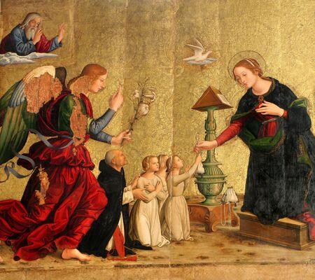 Annunciation - from santa Maria della Pace in Rome Stock Photo - 3856123