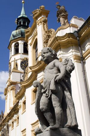 notability: angel for the loreto church - prague Stock Photo