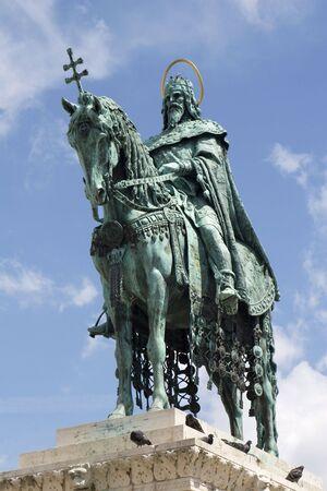 stephen: st. Stephen statua a Budapest Archivio Fotografico