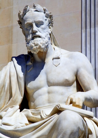 ancient philosophy:  Vienna - philosopher statue for the Parliament - Xenophanes